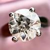 2.05ct Old European Cut Diamond Platinum Solitaire, GIA K SI1 13