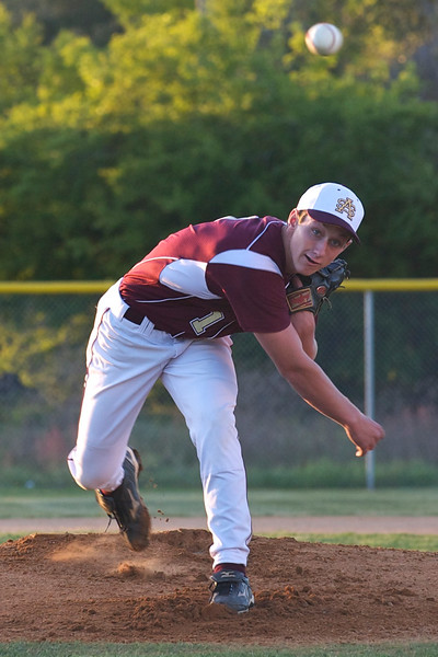 St Augustine High School pitcher P.J. Baran throws the ball during Tuesday's baseball game against Bartram Trail High School.