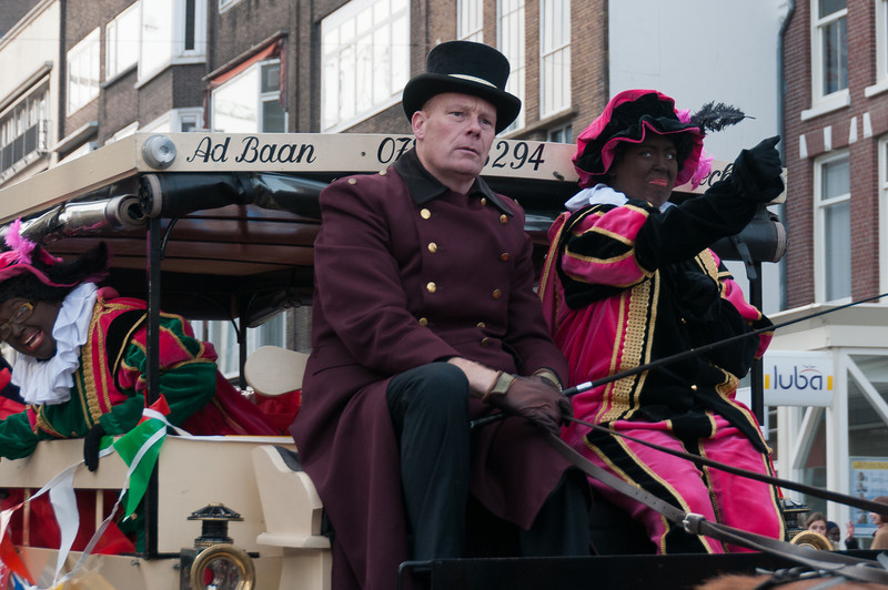 Mascots riding a carriage in Utrecht, Netherlands