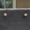 .54ctw Old European Cut Diamond Clover Stud Earrings, Yellow Gold 0