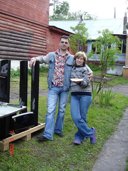 2008-06-07 ДР Князевых на даче с Тительман 04.JPG