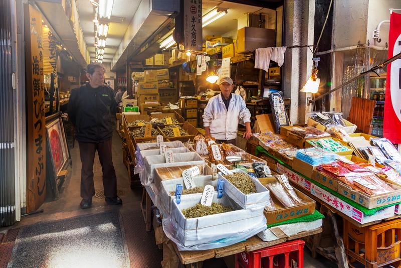 Tsukiji Outer Market. Editorial credit: artapartment / Shutterstock.com