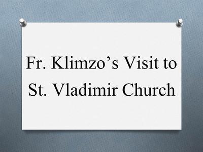 Fr. Vladimir Klimzo's Visit to St. Vladimir Church