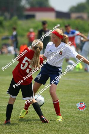 U12 Girls - Lakeville Thunder vs FC United Thunder Red