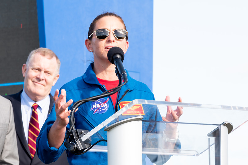 NASA Astronaut Nicole Mann speaks ahead of Orbital Flight Test