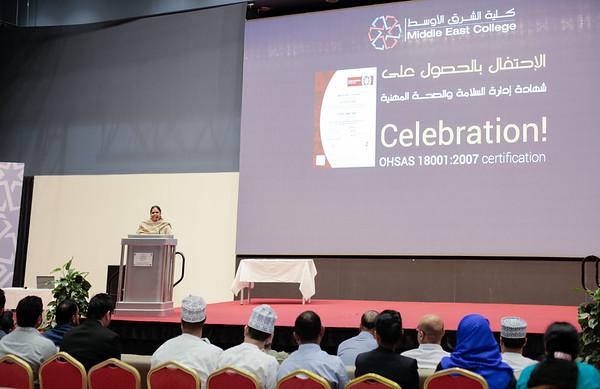 OHSAS certificate handover ceremony