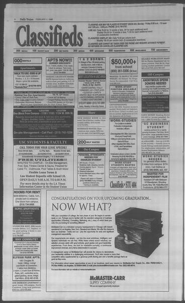 Daily Trojan, Vol. 133, No. 16, February 02, 1998
