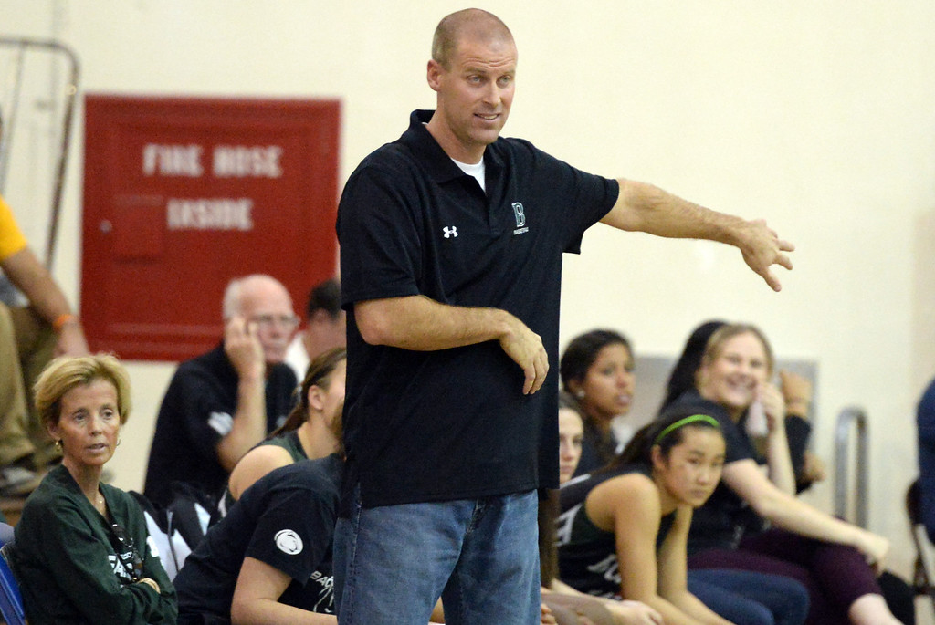. Bonita head coach Darren Baumunk in the first half of a prep basketball game against Walnut at Walnut High School in Walnut, Calif., on Wednesday, Jan. 15, 2014. Bonita won 60-50. (Keith Birmingham Pasadena Star-News)