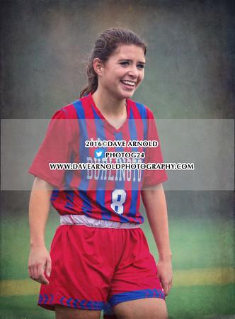 10/18/2016 - Girls Varsity Soccer - Burlington vs Melrose