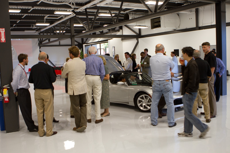The meeting space provided an excellent opportunity for people to get together and look at the great toys.