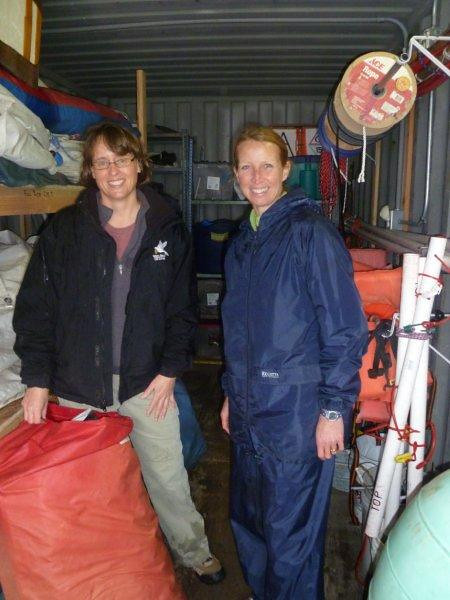 Karen & Lucy tidying sailing locker.jpg