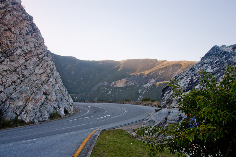 Highway Through the Mountains in South Africa