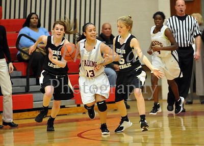 Berks Catholic VS Reading Girls Basketball 2011 - 2012
