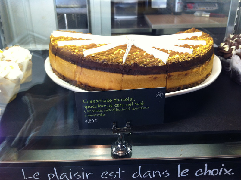 gold dusted cheesecake at Starbucks CDG (I didn't get it)