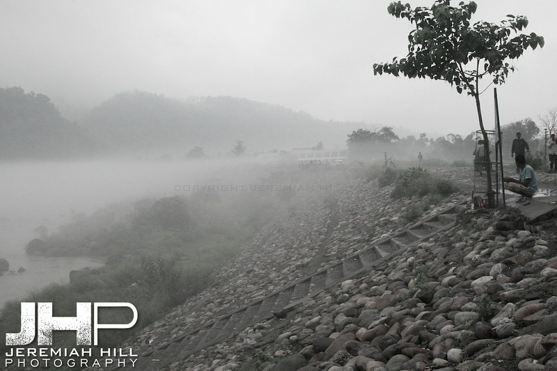 """Fog On The Banks"", Rishikesh, Uttaranchal, India, 2007 Print IND3724-019"