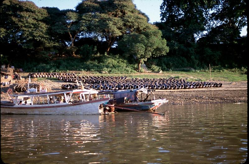 boat on the Ayeyarwaddy River