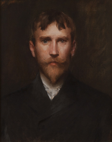 William Merritt Chase, Robert Blum, 1888, oil on canvas, unframed: 21 1/8 x 17 1/8 in.framed: 26 5/8 x 22 1/4 x 2 1/8 in., ANA diploma presentation, March 18, 1889, National Academy Museum, New York (228-P)