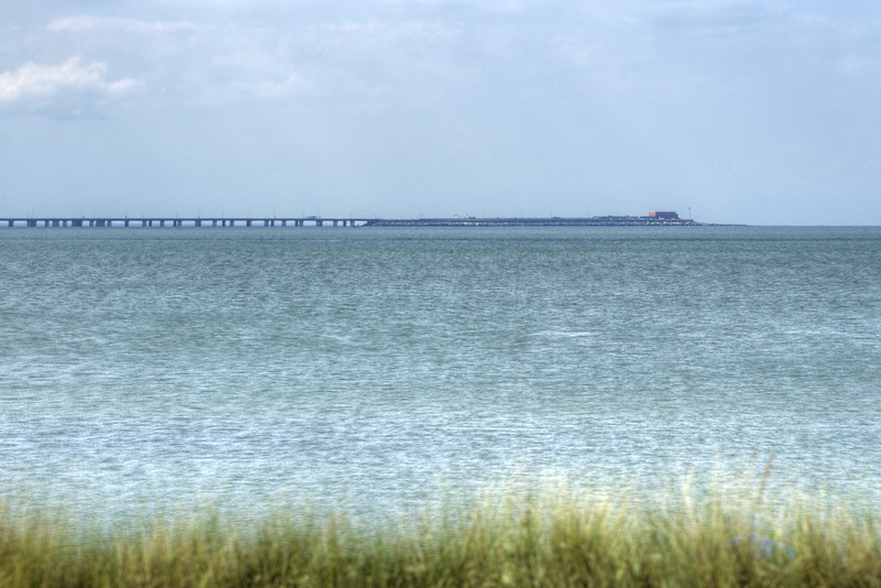 A view of the Chesapeake Bay Bridge-Tunnel from First Landing State Park in Virginia Beach, VA on Wednesday, August 19, 2015. Copyright 2015 Jason Barnette