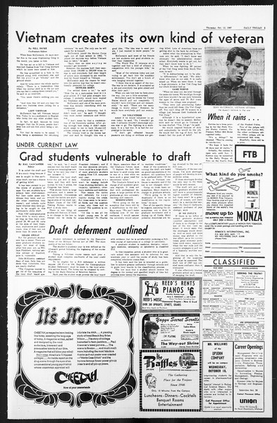 Daily Trojan, Vol. 59, No. 19, October 12, 1967