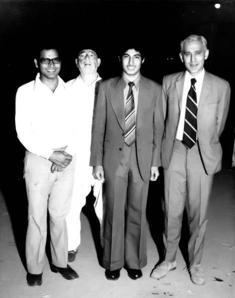Uncle Naeem, Sher Mohammed Meyer(Abaji), Amer and Uncle Jimmmy on Amer's departure to Ankara.