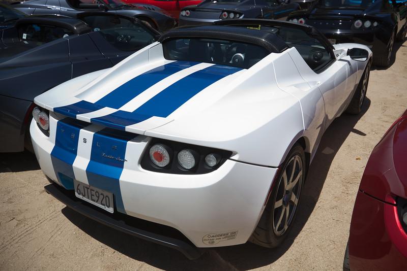Blue racing stripes
