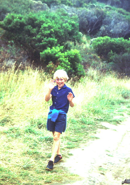 1978-1 (16) Andrew 8 yrs 5 mths, on a track to a waterfall near Skenes Creek, when staying at Apollo Bay.jpg
