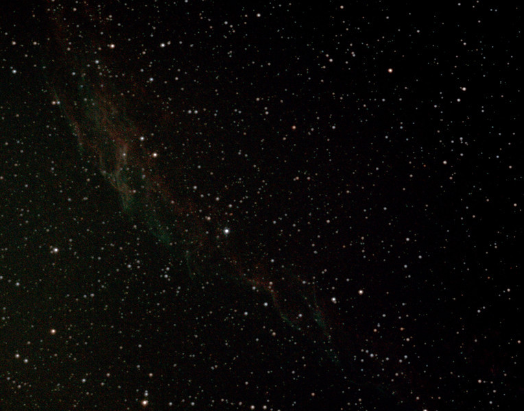 Caldwell 33 - NGC6992/5 + IC1340 - Eastern Veil Nebula in Cygnus - 10/8/2012 (Processed cropped stack)