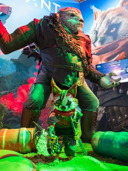 An animal statue at Gamescom 2017