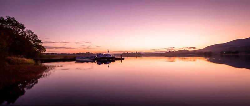 Pink Sunset, Lake of Menteith