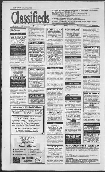 Daily Trojan, Vol. 127, No. 7, January 23, 1996