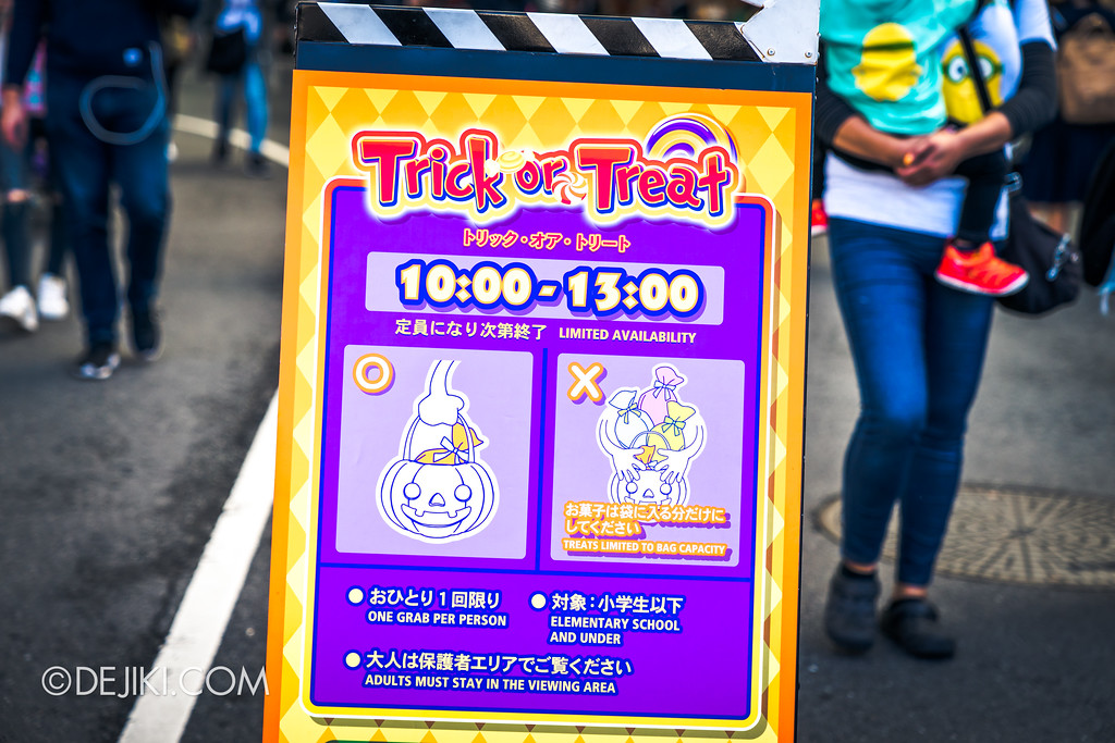 Universal Studios Japan - Universal Surprise Halloween / Trick or Treat event rules