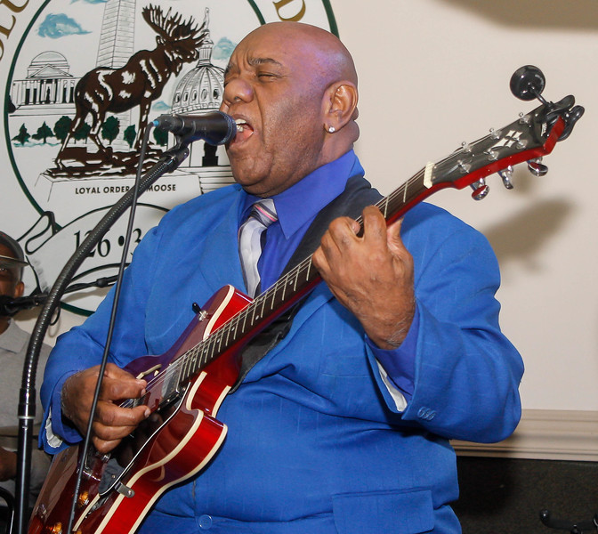 February 23, 2019: Strangers band guitarist Poppa Smith performs during the Winter Dinner/Dance Christmas in April event in Clinton. Photo by: Chris Thompkins/Prince George's Sentinel