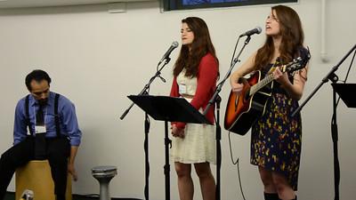 Kaily leading worship