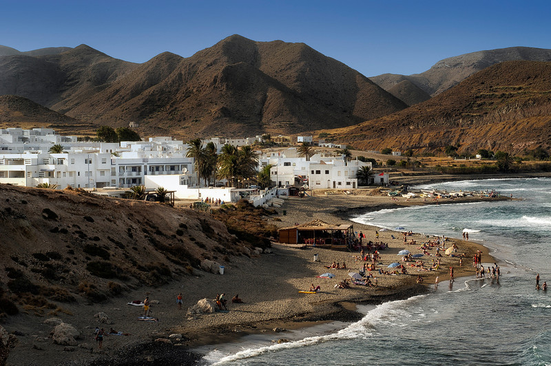 The village of Las Negras, Cabo de Gata nature reserve.  Almeria, Spain.