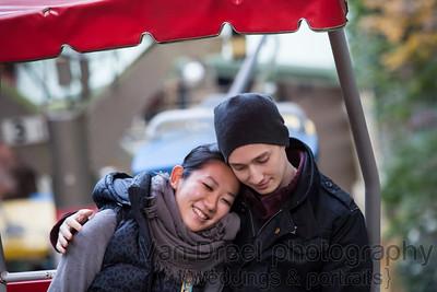 Justin and Mami - Mount Takao