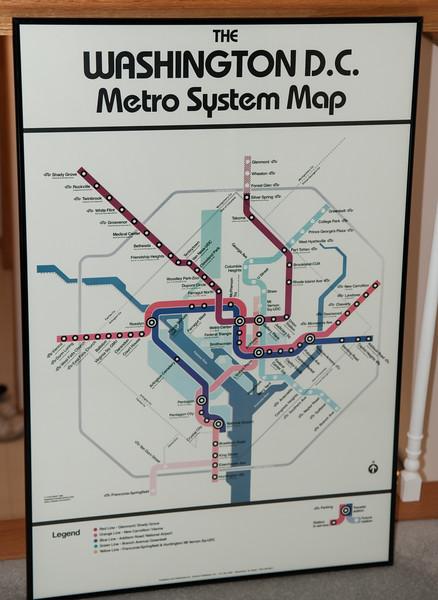 Washington DC Metro System Map
