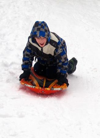 January 2011 Kids Sledding