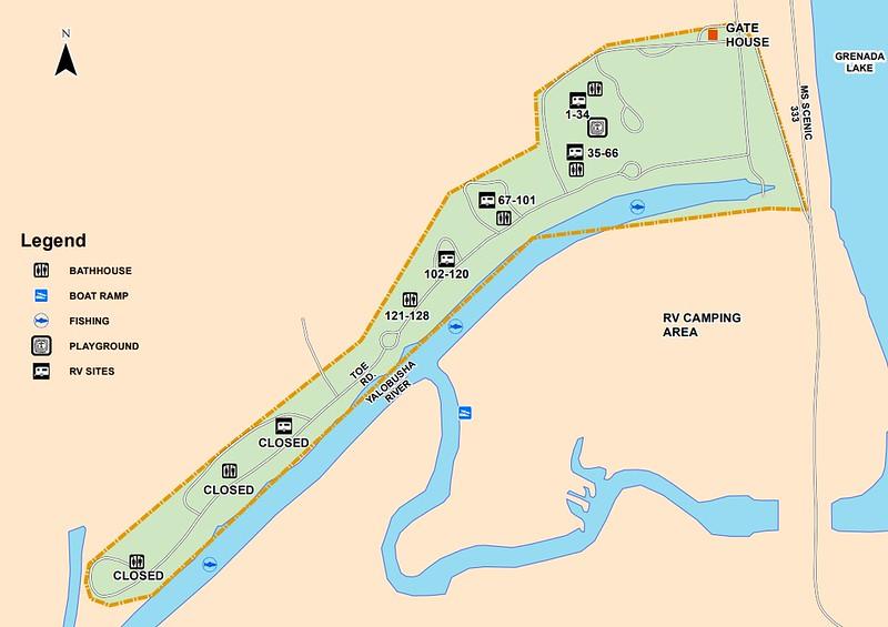 Hugh White State Park (Campground Map)
