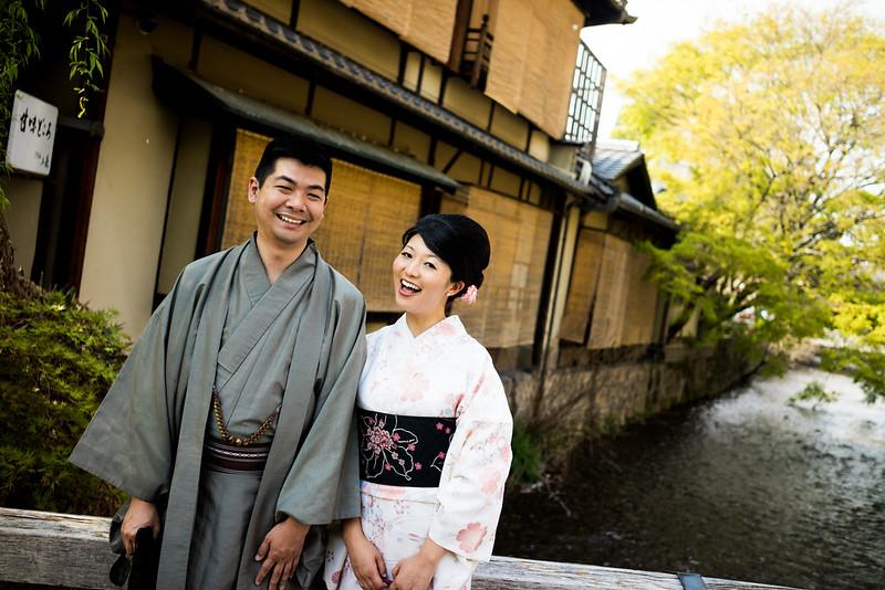Yumiko And Steve In Kimonos