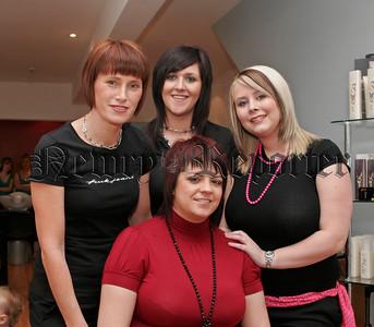 Hairdresser,Joanna Mc Cartney,Jenna Rooney,Karen Loughran, Sitting, Rachel Kennedy.06W44N12