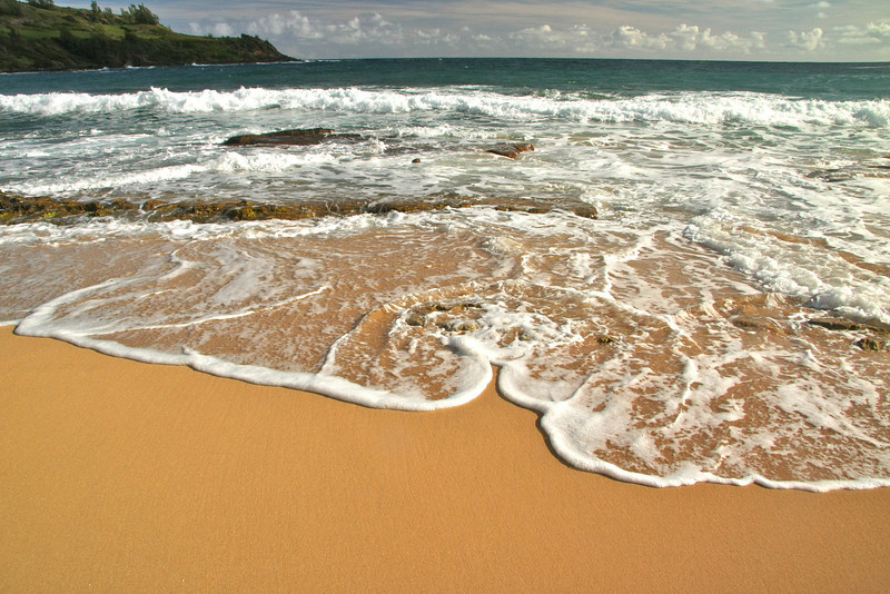 I loved the shapes the water creates! Moloa'a Bay, Kauai
