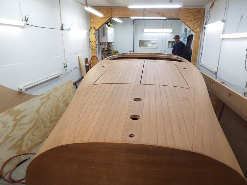 Rear deck with all the deck seams routed.