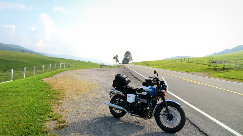 triumph bonneville in virginia on a a road trip - Lessons Learned Traveling by Motorcycle