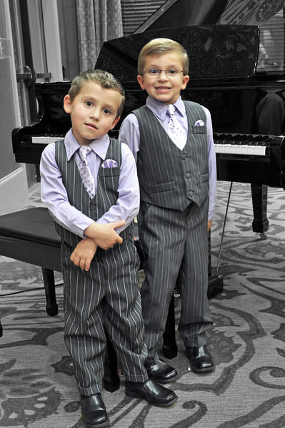Levi and Luke Trentham at their piano recital