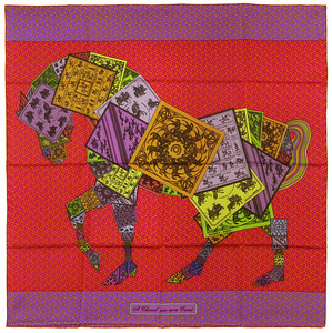 A Cheval sur mon Carre - Red Orange Mauve - NWCTS - 1401061946