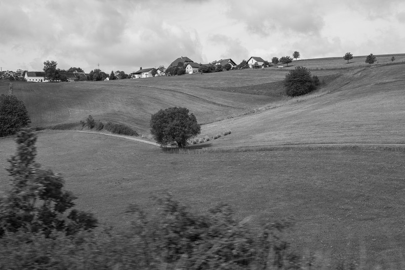 Day 8 - as seen from car German landscape en route to Mosel area, July 11th