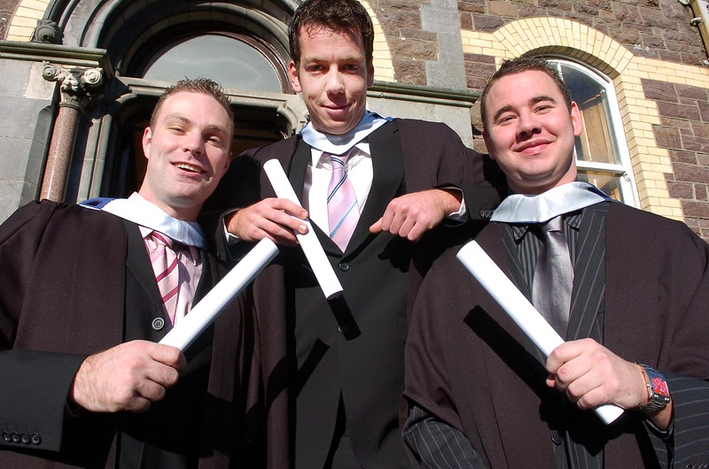 Provision 261006 Shane O'Rourke (Kildare), Brian Queeney (Meath) and Andrew McBride (Waterford) graduated with Bachelors of Business in Recreation and Leisure from WIT yesterday (Weds). PIC Bernie Keating/Provision