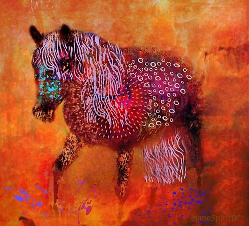Colorful horse illustration
