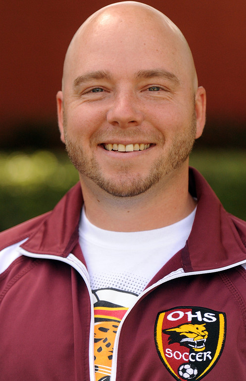 . Vince Mangione boys soccer coach from Ontario High School is coach of the year and has been named to Daily Bulletin\'s All-Valley Boy\'s soccer team. Staff photo by Will Lester.