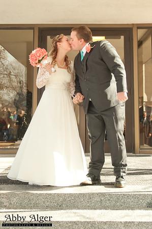 Molly & Christopher: LDS Salt Lake Temple Winter Wedding